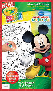 amazon com crayola color wonder poster pages mickey mouse toys