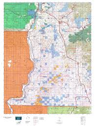 Washington State Topographic Map by Wa Gmu 121 Huckleberry Map Mytopo