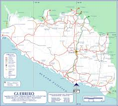 Mexico Road Map by Slideshow For Guerrero Mexico Maps