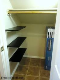 under stairs closet idea shelves on one side hooks for outdoor