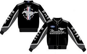 ford mustang jacket 2017 ford mustang collage black twill jacket by jh design