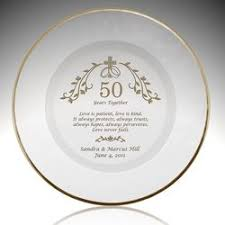 50th anniversary plates holy union personalized 50th anniversary plate with gold