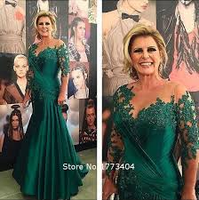 2017 vintage dark green beaded mother of the bride dress lace