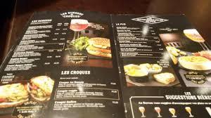 carte au bureau burgers croque monsieur picture of au bureau tripadvisor