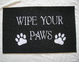 Wipe Your Paws Dog Doormat Paw Print Door Mat Etsy