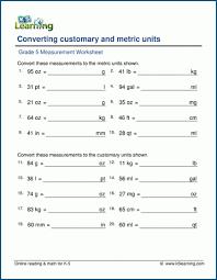 grade 5 measurement worksheets free u0026 printable k5 learning