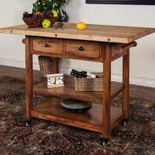 kitchen carts kitchen island cart with drawers acacia wood cart