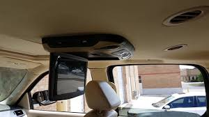 cadillac escalade dvd player 12 roof mount flip car dvd player installed in cadillac