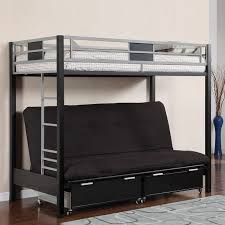 Futon Bunk Bed With Mattress Included Kobe Twin Over Futon Bunk Bed Jpg