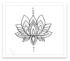 inked by temporary tattoos lotus flower