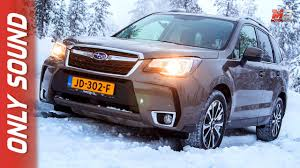 subaru forester red 2017 new subaru forester 2017 finland snow test drive only sound