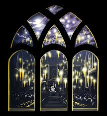 harry potter mural sacredart murals the great hall with floating candles part of the wall mural