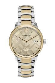 gold tone bracelet watches images Burberry men 39 s the classic swiss quartz two tone bracelet watch jpg