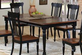 country dining room sets country look dining room set in black pine finish casual dinette sets