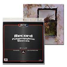 archival photo albums 300 bcw 4 mil 33 rpm record album clear archival poly outer
