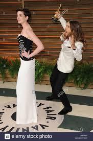 Anne Hathaway Vanity Fair Jared Leto Vanity Fair Oscar Stock Photos U0026 Jared Leto Vanity Fair