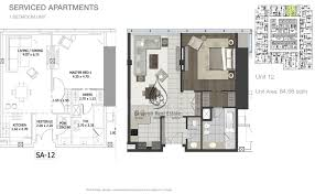 entisar tower 1 bedroom apartment unit 11 floor plan
