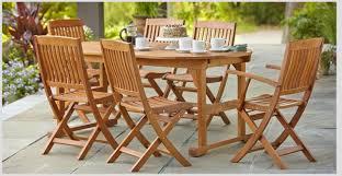 hampton bay adelaide eucalyptus 7 piece patio dining set hurry