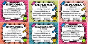 imagenes de reconocimientos escolares diplomas y reconocimientos modificables para premiar a los alumnos