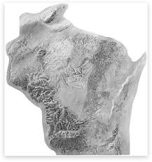 topo maps wisconsin shaded relief archive wisconsin