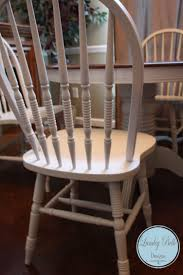 White Round Table And Chairs by Lumley Belle Designs Refinished Antique Ivory Painted Windsor