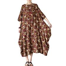 aeneontrue womens new printed plus size travel dresses style3 red