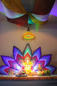 pooja decorations at home creative eco friendly decorations designs and colors modern fresh