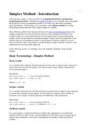 Linear Programming Word Problems Worksheet Simplex Method Maximisation Case
