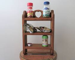 Spice Rack For Wall Mounting Spice Storage Etsy