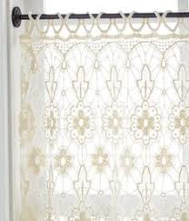 Window Treatment Hardware Medallions - tree of life lace tailored valance 112075 harbor view lane