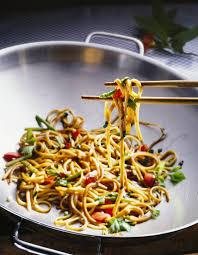 cuisiner des pates chinoises poêlé de nouilles chinoise à la sauce de soja pour 2 personnes