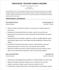 Resume Sample For Lecturer Teacher Resume Templates Free Teacher Resume Free Teacher Resume