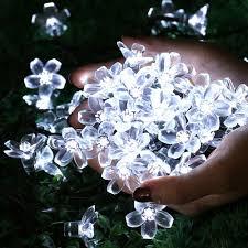 qedertek solar string lights 21ft 50 led blossom