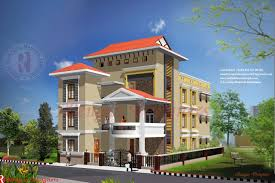 Home Exterior Design Kerala by Apartments 3 Floor Building Design Modern Floor Tamilnadu House