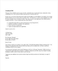 job acceptance how to write an offer acceptance letter offer