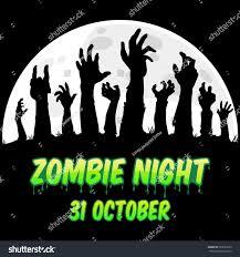 zombie night flyer happy halloween design stock vector 735651070