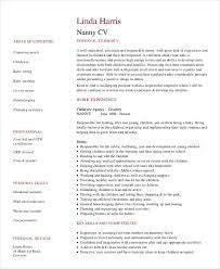 Resume For Babysitting Sample by Nanny Resume 8 Free Sample Example Format Free U0026 Premium