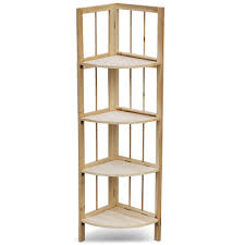 wood corner bookcase tinkertonk 4 tiers corner wooden storage shelf kit unit pine wood