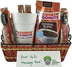 coffee and tea gift baskets dunkin donuts original coffee gift basket grocery