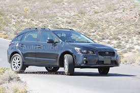 blue subaru crosstrek 2018 subaru xv crosstrek mule spied testing with possible plug in