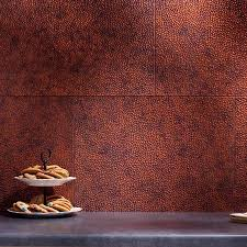 fasade backsplash hammered in moonstone copper