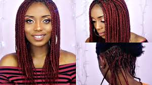 how to box braids tutorial on short natural hair youtube
