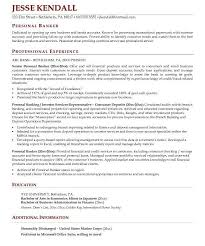 Marine Corps Resume Examples by Cool Design Ideas Banker Resume 4 Personal Banker Resume Sample