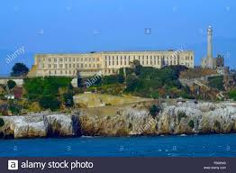 alcatraz island penitentiary san francisco ca pacific ocean stock