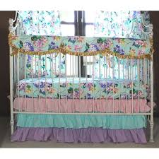 Pastel Crib Bedding Cordelia S Baby Bedding Floral Pastel Pink Blue Lavender