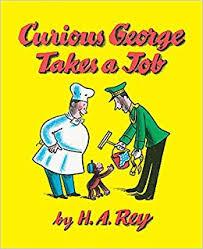 curious george takes job rey 0046442186490 amazon