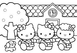 coloriage gratuit a imprimer hello kitty az coloriage