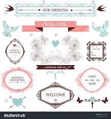 vintage collection vector wedding design elements stock vector