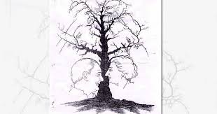 how many faces can you see in this tree counting conundrum goes