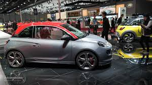 opel paris opel vauxhall adam s debuts in paris small in size big on